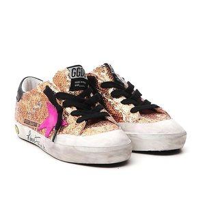 NWOT Golden Goose Superstar Glitter Sneakers 34